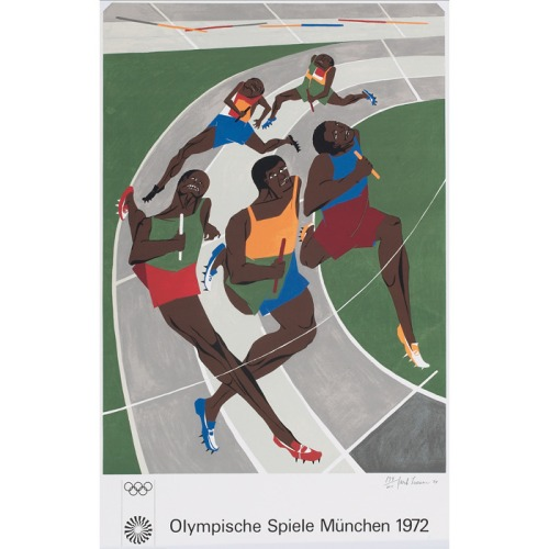 7th_grade_poster_of_study_for_munich_olympic_games_by_jacob_lawrence_in_1972