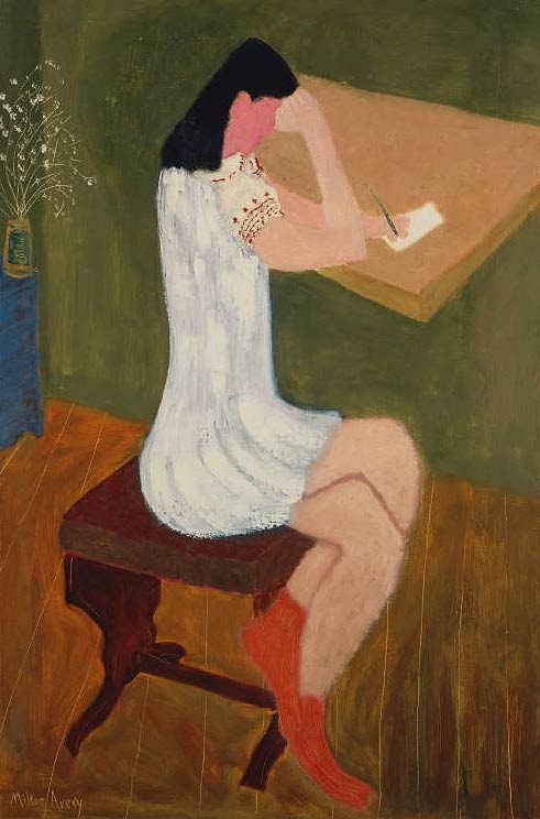 8th_grade_girl_writing_by_milton_avery_in_1941
